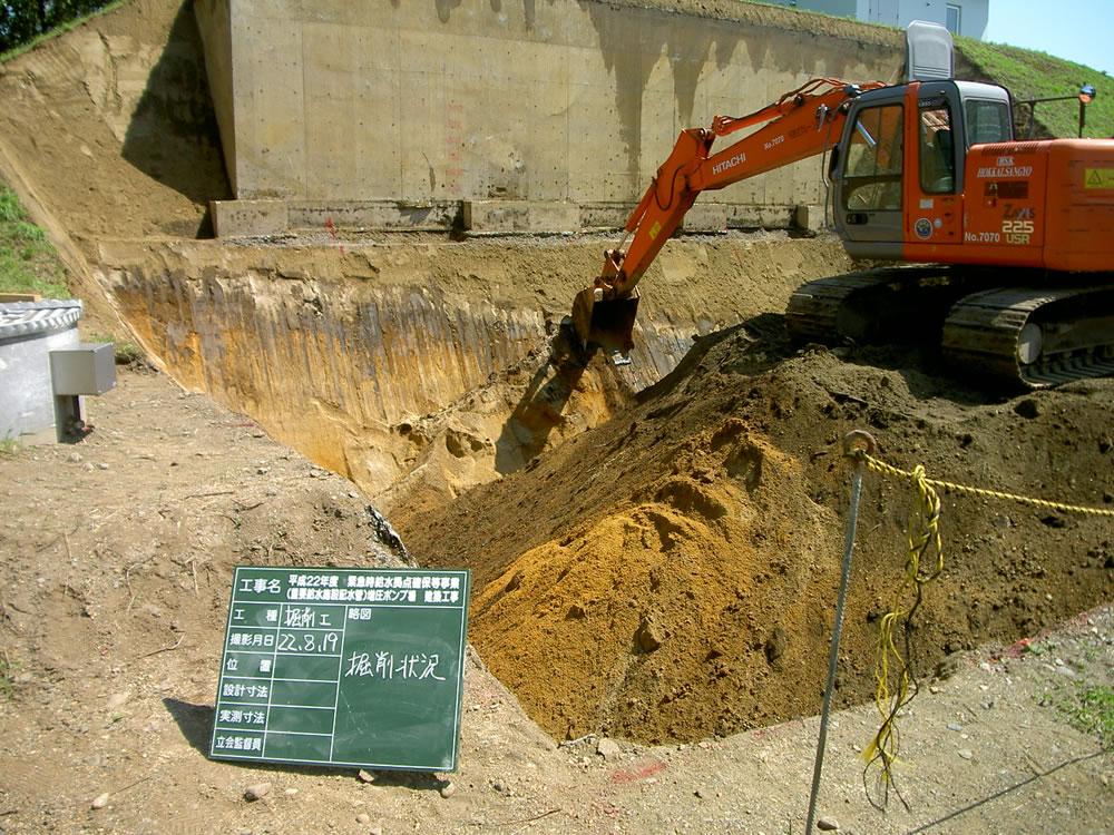平成22年度緊急時給水拠点確保等事業(重要給水施設排水管)増圧ポンプ場建築工事