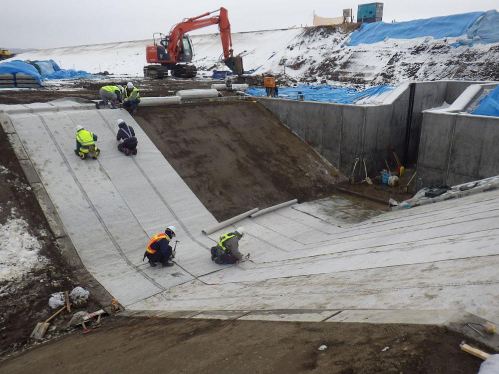 鵡川改修工事の内河口左岸樋門改良外工事