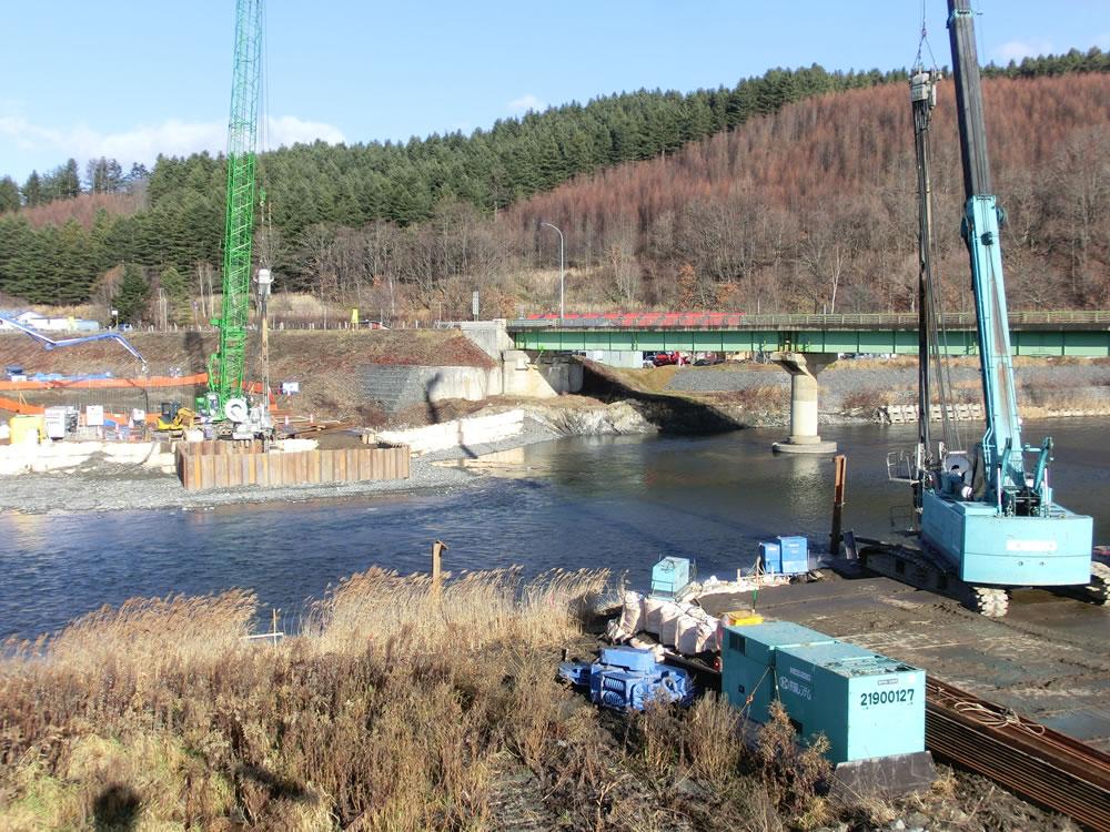 一般国道237号平取町振内橋下部工事
