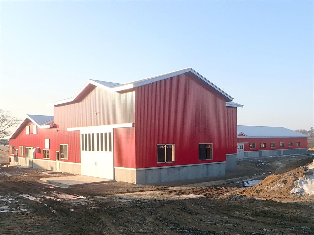 H牧場 様 牛舎新築工事