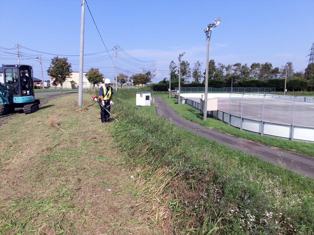 むかわ町スケートリンク周辺の環境整備