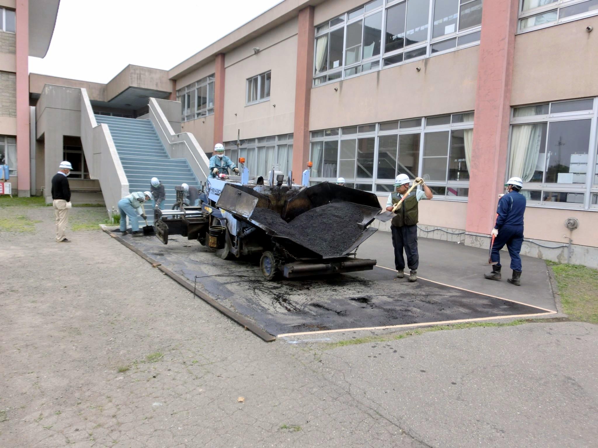 新冠小学校の環境整備